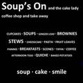 Soup's On and the Cake Lady logo