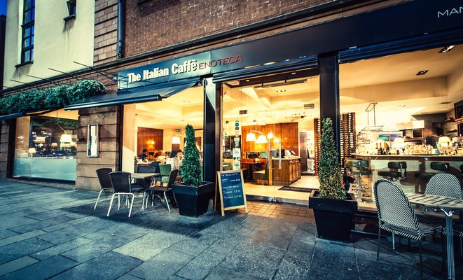 The Italian Caffe Glasgow Restaurant Bookings Offers 5pm Co Uk