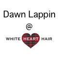 Dawn Lappin @ White Heart Hair logo